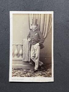 Victorian CDV: Dapper Gent Very Tall Top Hat: Mayer Brothers London