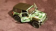 Jeep Wrangler Rubicon green camouflage 1:34 diecast model car new