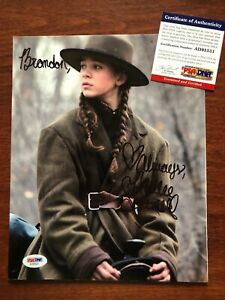 Hailee Steinfeld Signed 8x10 Photo EARLY CAREER Signed True Grit PSA/DNA