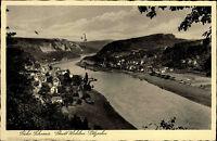 Sächsische Schweiz s/w Postkarte 1939 gelaufen Stadt Wehlen Plötzscha Elbepartie