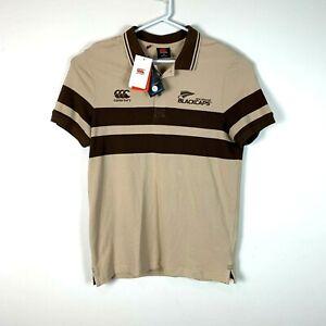 New Zealand Blackcaps Cricket Canterbury Retro Polo Shirt Size Men's Medium NWT