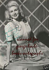 GINGER ROGERS~6X8~SEXY~PORTRAIT~SIGNED~1945