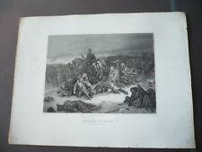 GRAVURE 1880 RETRAITE DE RUSSIE HIVER 1812 NAPOLEON