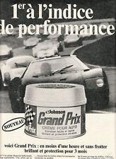 Publicité ancienne crème auto Johnson 1969 issue de magazine