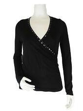 Apriori Shirt 38 Langarmshirt schwarz Viskose Raffung  Top neu mit Etikett