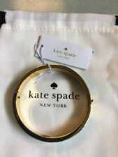 Nwt Kate Spade Hole Punch Spade Bangle Bracelet Turquoise / Gold & Dustcover