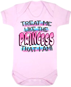 Baby One Piece Baby Bodysuits Baby Rompers Jumpsuits TREAT ME LIKE PRINCESS