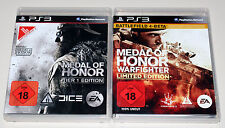 2 PLAYSTATION 3 giochi Set-Medal of Honor animale & Warfighter Limited Frontline