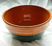 LARGE-Vintage-Speckled Stoneware Bowl 2 Toned  8""