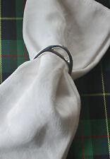 Ralph Lauren ~ 4 Napkins ~ Paisley ~ Elegant White Damask ~ Formal Table Linens