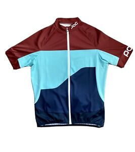 POC Fondo Gradient Classic Cycling Bike Jersey Red Green Blue Mens Size Large