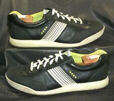 ECCO black leather golf oxfords lace ups Men's shoes size EUR 45