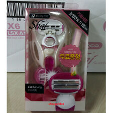 Dorco SHAI Reina 6 soft touch Razor system :1Handle+2cartridges+1Eyebrow Razor