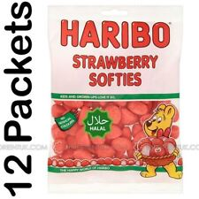 12x Haribo Strawberries Halal Sweets 80g Box of 12 Discount if you Buy +2 Boxes