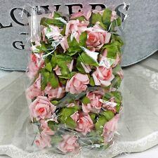 50 Rosen rosa Streublüten Rosenköpfe Foam Schaum  1,5-2cm