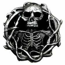 Skull Belt Buckle Skeleton 3D Heavy Gothic Official Pagan Authentic Product