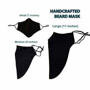 Beard Mask For Bearded Men. Beard Friendly Face Mask Handmade. Large Mask.