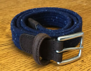 Anderson's Men's Belt 36 Woven Blue Braided Elastic Made in Italy A