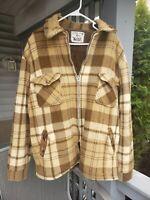 VTG Woolrich Men's Brown Plaid Men's Sz XL hunting Jacket Wool USA 1960s