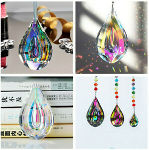 Rainbow Crystal Chandelier Lamp Prism Pendant Home Decor 38-76mm
