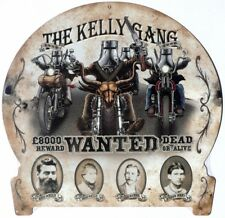 THE NED KELLY GANG WANTED DEAD OR ALIVE. ALL WEATHER TIN SIGN