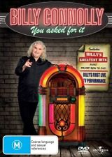BILLY CONNOLLY-YOU ASKED FOR IT DVD=REGIONS 2 (UK) and 4 (AUST)=NEW AND SEALED