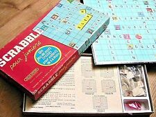 1950s Scrabble Junior Word Game- 2 Boards - French Edition -Made In England- New