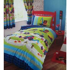 DIGGERS SINGLE DUVET COVER SET NEW CONSTRUCTION BEDDING BOYS