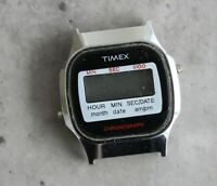 TIMEX F CELL 3.78 quartz LCD digital vintage watch 34mm chronograph PARTS SPARES