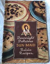 Vintage Downright Delicious SUN-MAID RAISIN COOK BOOK 32 Pages RETRO Recipes