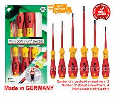 Wiha 6 Piece Slimline Insulated Electricians Screwdriver Set Kit Tools Electric