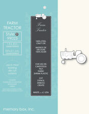 "MEMORY BOX 99023 ""Farm Tractor ""  100% Steel Craft Die"