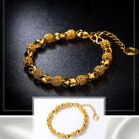 Hollow Stainless Steel Retro Jewelry Fashion Bracelet Women Gold