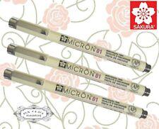 Free ship 3 pcs SAKURA MICRON 01 calligraphy pens for Arts SEPIA ink