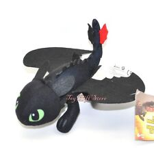"""Cute How To Train Your Dragon 2 TOOTHLESS Night Fury Plush toy 8""""#2"""