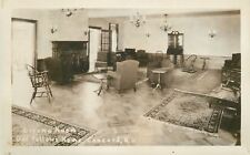 Concord New Hampshire~Living Room Odd Fellows Home~Real Photo Postcard c1930