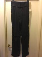 OMG 😮 Statement Piece Dolce & Gabbana Pinstripe Corset Tuxedo Pants 46 12