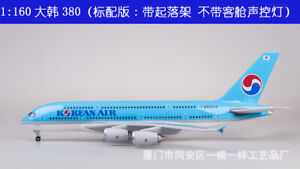 1/160 Korean Airplane Boeing 380 45cm Commercial Airline Resin Passanger Plane