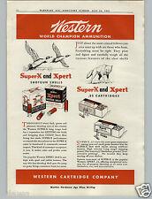 1941 PAPER AD 2 PG Western Cartridge Ammo Ammunition Box Boxes Super X Silvertip