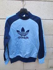 VINTAGE Sweat ADIDAS Monaco TREFOIL belu ciel marine VENTEX nylon shirt sport S