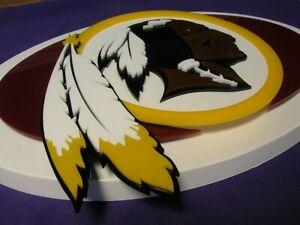 REDSKINS 3D SIGN art Brady WASHINGTON DC man cave football display Haskins