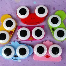 Cartoon Cute Animal Owl Big Eyes Cleaning Travel Case Storage Lens Box Contact