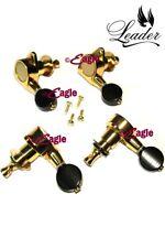 Mini Machine Head - Set of Four - Gold/Black Button for Ukulele and Uke Banjo