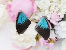 Real Butterfly Wings Earrings Laminated Drop/Dangle Handmade Jewelry, papilio