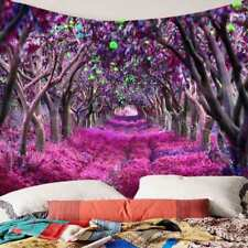 Flower Tree Pattern Tapestry Art Room Wall Hanging Psychedlic Tapestries Decor