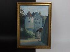 Théodor HOHN 1882-1949, Belle Gouache 1932 Fontaine de l'Ours, Château MEERSBURG