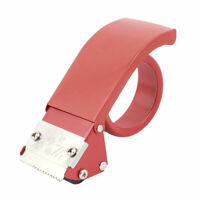 "Handheld Packing Packaging Sealing 2"" Width Tape Roll Cutter Dispenser Red"