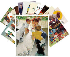 Postcards Pack [24 cards] Norman Rockwell Sport and Everyday Life Vintage CC1026