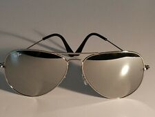 Ray Ban RB3026 62MM Aviator Unisex Sunglasses Silver Frame/ Silver Mirror Lens