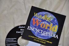 PC-CD ROM - Websters World Encyclopedia CD